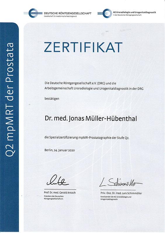 Spezialzertifizierung MR-Prostatographie der Arbeitsgemeinschaft Uroradiologie und Urogenitaldiagnostik | Deutsche Röntgengesellschaft